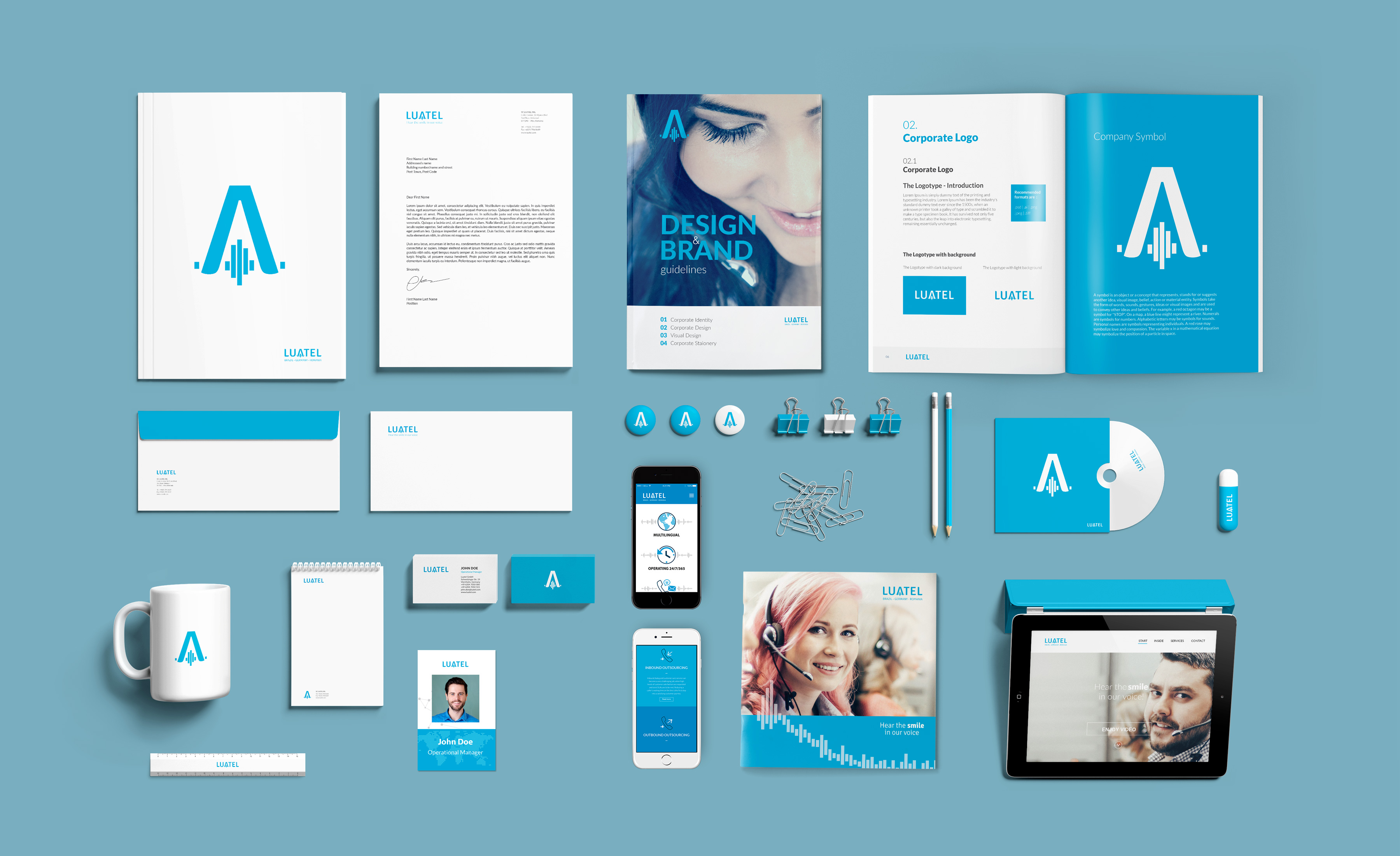 Visual Identity Collaterals Luatel